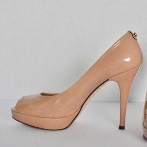 Stuart Weitzman Peep Toe Platform Heel